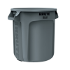 "10 Gallon Gray Rubbermaid® Brute® - 15.63"" Dia. x 17.13"" H"