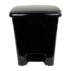 4 Gallon Black Step-On Trash Can