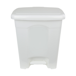 4 Gallon White Step-On Trash Can