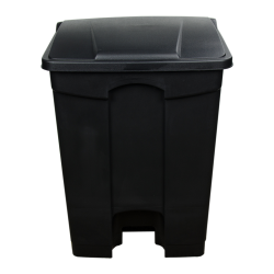 17 Gallon Black Step-On Trash Can