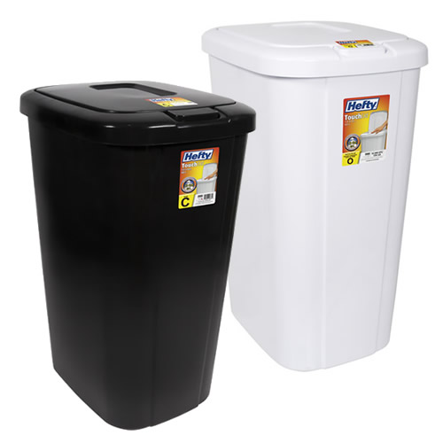 Hefty® 13.3 Gallon Touch Lid Trash Cans