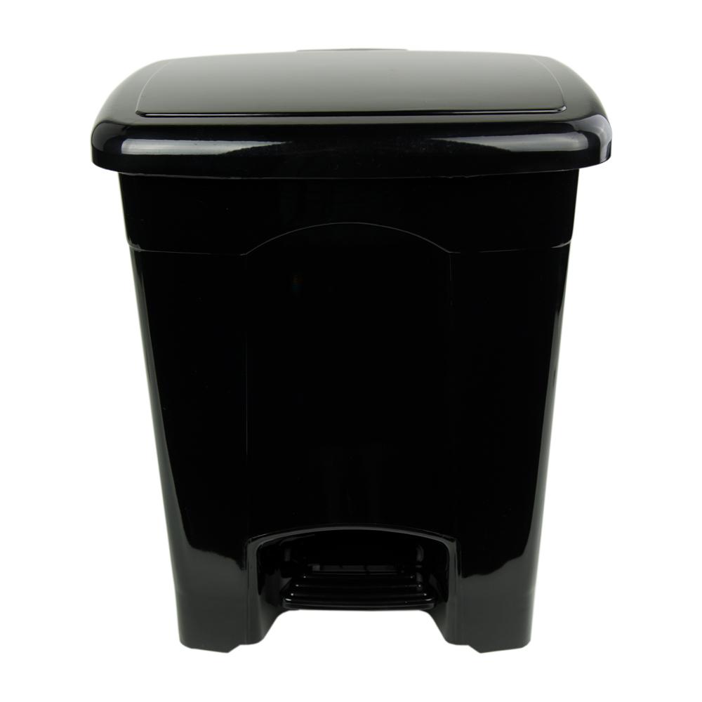 4 Gallon Black Step-On Trash Can