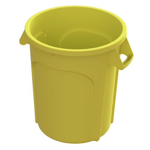 20 Gallon Yellow Value Plus Trash Container