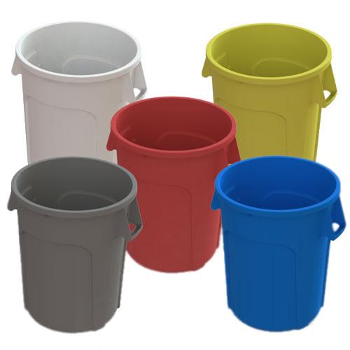 32 Gallon Green Value Plus Trash Container