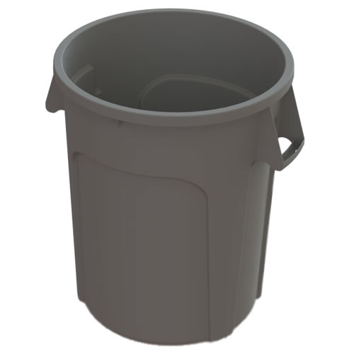 32 Gallon Gray Value Plus Trash Container