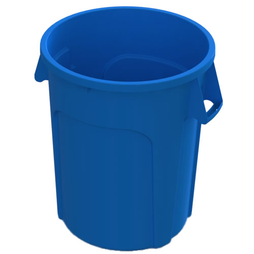 32 Gallon Blue Value Plus Trash Container