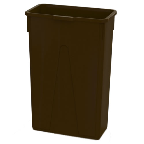 23 Gallon Brown Slim Container