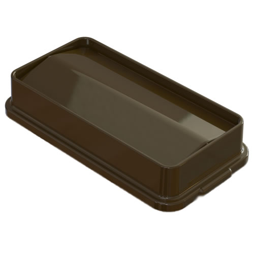 Brown Swing Lid for 23 Gallon Slim Containers