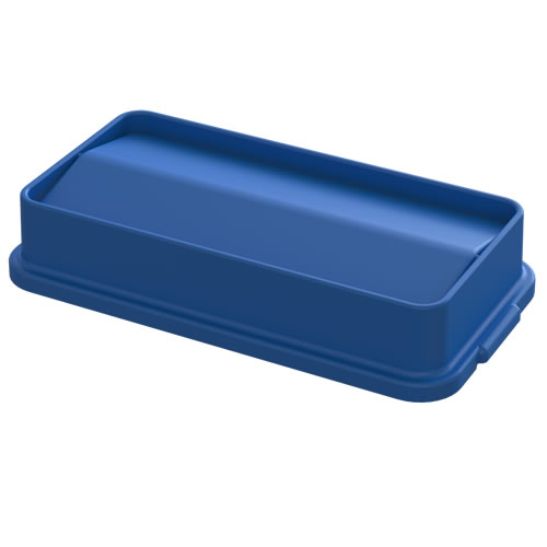 Blue Swing Lid for 23 Gallon Slim Containers