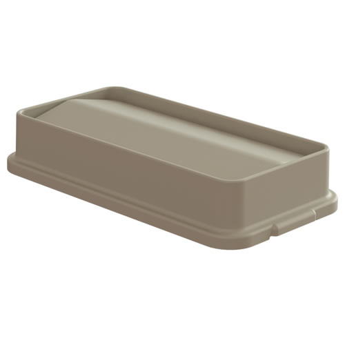 Beige Swing Lid for 23 Gallon Slim Containers