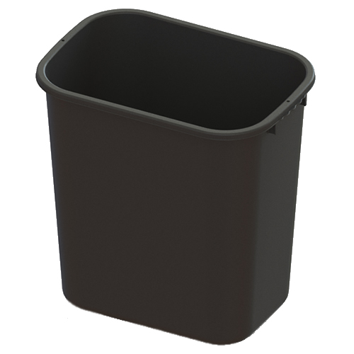 28 Quart Black Wastebasket