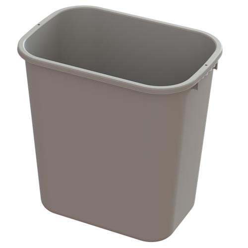 28 Quart Beige Wastebasket