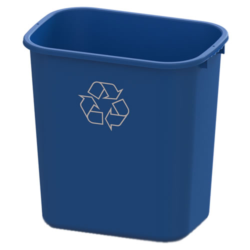 28 Quart Blue Recycling Wastebasket