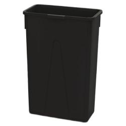 23 Gallon Black Slim Container