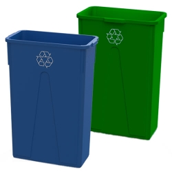 Recycling Slim 23 Gallon Containers & Lids