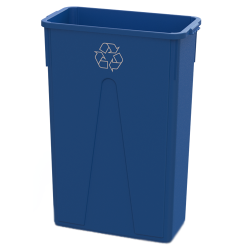 23 Gallon Blue Recycling Slim Container