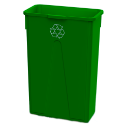 23 Gallon Green Recycling Slim Container
