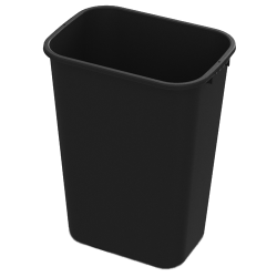 41 Quart Black Wastebasket