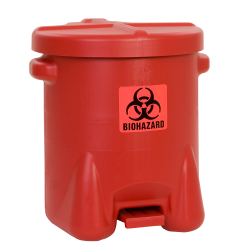 14 Gallon Red Eagle Safety Biohazardous Waste Can