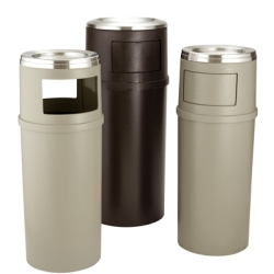 Rubbermaid® Ash/Trash Classic Container with or without Doors