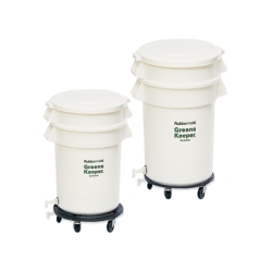 Rubbermaid® Brute® GreensKeeper Container with Lid and Dolly