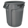 "44 Gallon Gray Rubbermaid® Brute® - 24"" Dia. x 31.5"" H"