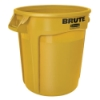 "44 Gallon Yellow Rubbermaid® Brute® - 24"" Dia. x 31.5"" H"