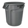 """20 Gallon Gray Rubbermaid® Brute® - 19.38"""" Dia. x 22.91"""" H"""
