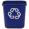 """13-5/8 Qt Rubbermaid® Container w/Recycle Symbol - 11-3/8""""L x 8-1/4""""W x 12-1/8""""H"""