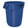 "44 Gallon Blue Rubbermaid® Brute® - 24"" Dia. x 31.5"" H"