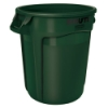 "44 Gallon Dark Green Rubbermaid® Brute® - 24"" Dia. x 31.5"" H"
