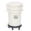 "20 Gallon BRUTE® GreensKeeper Container with Lid and Dolly 22.5"" Dia x 33.5"" H"