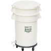 "32 Gallon BRUTE® GreensKeeper Container with Lid and Dolly 25"" Dia x 38.5"" H"