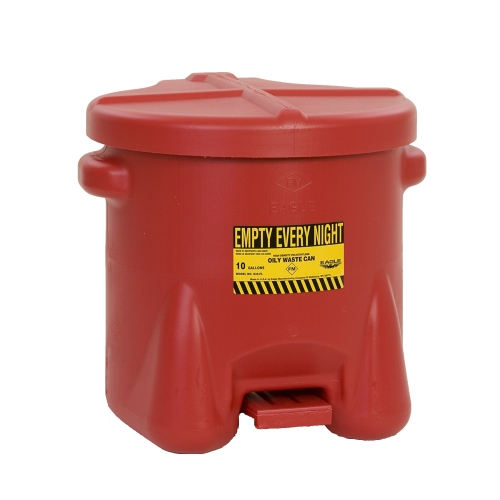 10 Gallon Red Eagle Safety Oily Waste Can