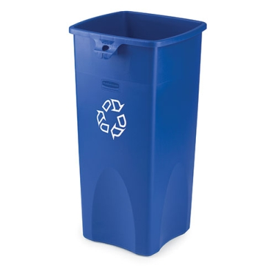 "23 Gallon Rubbermaid® Container w/Recycle Symbol 16-1/2""L x 15-1/2""W x 30-7/8""H"