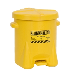 14 Gallon Yellow Eagle Safety Oily Waste Can