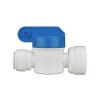 "3/8"" Tube OD x 3/8"" FNPTF Speedfit® White Polypropylene Shut-Off Valve"