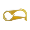 "Yellow 1 Position Acetal Tubing Clamp for Tubing up to 0.25"" OD"