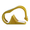 "Yellow 1 Position Polypropylene Tubing Clamp for Tubing up to 0.50"" OD"