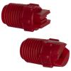 "25° Red PVDF Bex® F Series 1/4"" MNPT Spray Nozzle - Size 05"