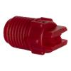 "25° Red PVDF Bex® F Series 1/4"" MNPT Spray Nozzle - Size 06"