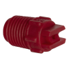 "25° Red PVDF Bex® F Series 1/4"" MNPT Spray Nozzle - Size 10"
