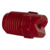 "25° Red PVDF Bex® F Series 1/4"" MNPT Spray Nozzle - Size 30"