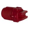 "50° Red PVDF Bex® F Series 1/4"" MNPT Spray Nozzle - Size 02"