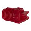 "50° Red PVDF Bex® F Series 1/4"" MNPT Spray Nozzle - Size 03"