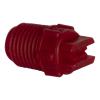 "50° Red PVDF Bex® F Series 1/4"" MNPT Spray Nozzle - Size 05"