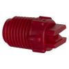 "50° Red PVDF Bex® F Series 1/4"" MNPT Spray Nozzle - Size 08"