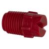 "50° Red PVDF Bex® F Series 1/4"" MNPT Spray Nozzle - Size 20"