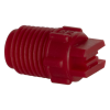 "65° Red PVDF Bex® F Series 1/4"" MNPT Spray Nozzle - Size 04"
