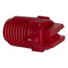 "65° Red PVDF Bex® F Series 1/4"" MNPT Spray Nozzle - Size 08"